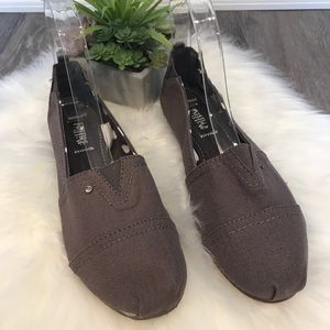 Mad Love Lydia Gray Canvas Slip On Loafer Flats
